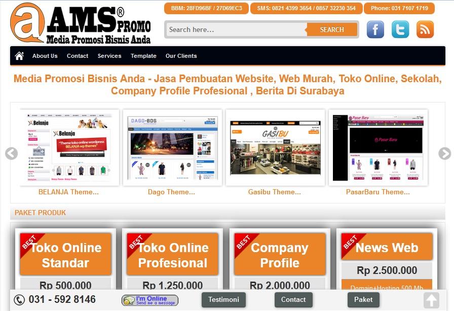 jasa pembuatan web toko online murah