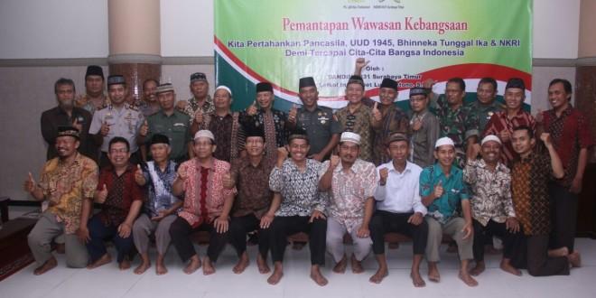 Pembekalan wawasan kebangsaan PC LDII Kecamatan Tambaksari oleh Kodim 0831 Surabaya Timur, Kamis (15/12).
