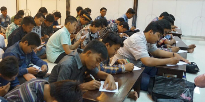 Pengajian akhir tahun PC LDII Kecamatan Gunung Anyar, Surabaya, Sabtu (31/12/2016).