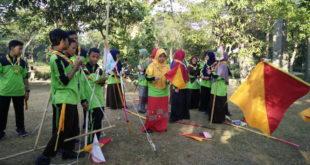 Wustho Subulussalam mengadakan Perkemahan Sabtu Minggu (Persami) di Kebun Bibit Wonorejo, Surabaya, (29/6/2019).