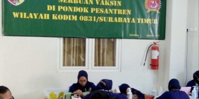 Kegiatan Vaksinasi Massal di Pondok PPPM Subulussalam, Selasa (24/8).